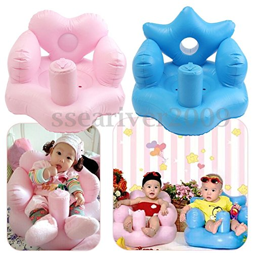 [Portable Baby Sofa Kids Inflatable Learn Training Bath Dining Chair Safety Seat] (0-3 Month Swimming Costumes)