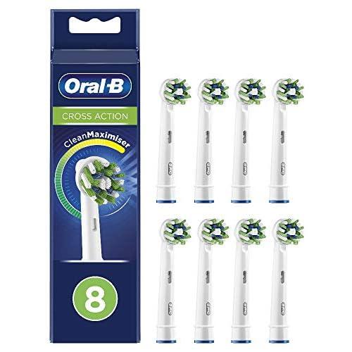 chollos oferta descuentos barato Oral B CrossAction Cabezales De Recambio Con Tecnología CleanMaximiser Tamaño De Buzón Pack De 8