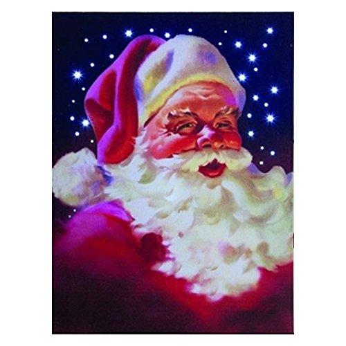 Classic Santa Claus Hochformat LED Tricks 30,5 x 22,9 cm Weihnachten Gespannte Leinwand Art Wand