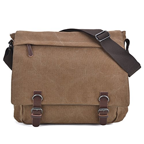 Large Vintage Canvas Messenger