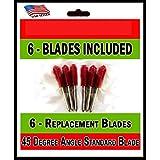 Standard Replacement Cutting Blades for Craft Cutting Machines, 6 blades Cricut, Bridge, Refine
