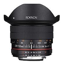 Rokinon 12mm F2.8 Ultra Wide Fisheye Lens for Nikon DSLR Cameras - Full Frame Compatible
