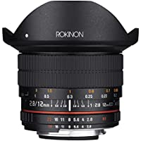Rokinon 12mm F2.8 Ultra Wide Fisheye Lens for Nikon AE DSLR Cameras - Full Frame Compatible