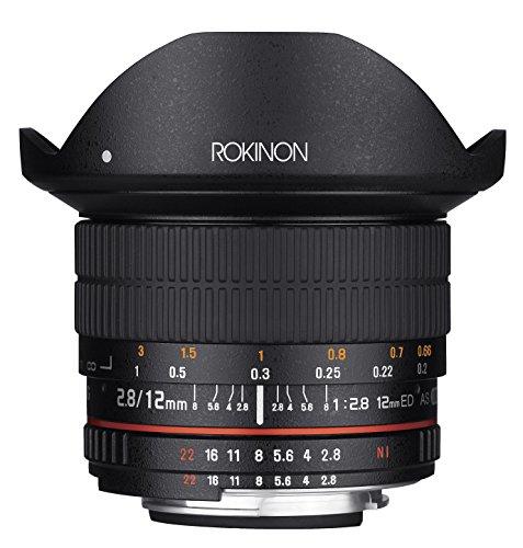 Rokinon 12mm F2.8 Ultra Wide Fisheye Lens for Nikon AE DSLR Cameras - Full Frame Compatible