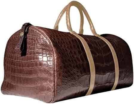 "11494ab3b26f Chateau de Laquant ""Saint-Tropez"" Crocodile Duffle Carry On Alligator Luggage  Bags"