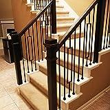 "1/2"" Stair Railing Iron Balusters (15-Pack) Plain"