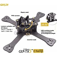 XSD MOEDL DIY FPV mini Racing Drone GEP-TX 180 / 210 / 230 quadcopter 3k carbon fiber frame 4mm main lower plate better than QAV-X QAVR (5-inch wheelbase 210mm) (Gift:5045 propellers 3blades 2 pairs)