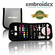 Amazon Lightning Deal 91% claimed: Embroidex Sewing Kit for Home, Travel & Emergencies - Filled with Quality Notions Scissor & Thread - Great Gift