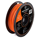 HATCHBOX 3D PETG-1KG1.75-ORN PETG 3D Printer Filament, Dimensional Accuracy +/- 0.05 mm, 1 kg Spool, 1.75 mm, Orange