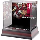Sports Memorabilia Christian McCaffrey Stanford Cardinal Deluxe Mahogany Mini Helmet Case - College Mini Helmet Free Standing Display Cases