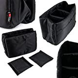 DURAGADGET Five-Pocket Padded Divider / Organizer Insert for Camera Bags - Keep Your Sony Camera and Accessories Safe & Separated