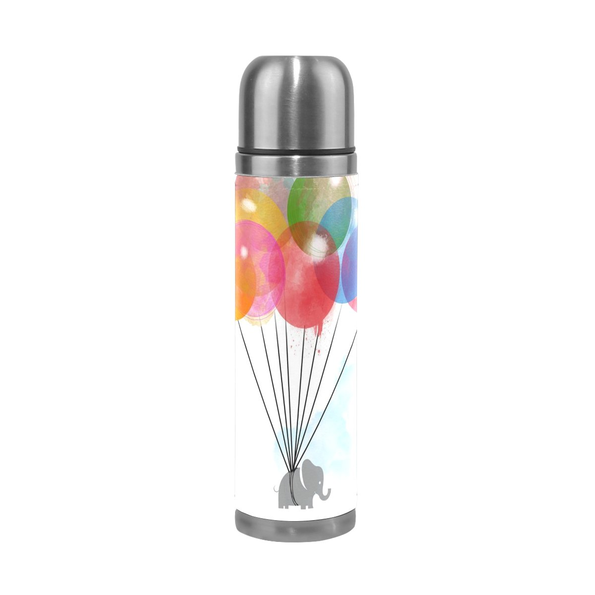 jstel globo aislado al vacío botella de de agua de acero inoxidable a prueba de botella fugas botella de vacío doble para café caliente o frío taza de té + bebida Top 500 ml fc15a2