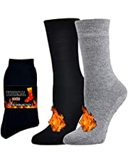Jormatt Thick Thermal Socks Insulated Heated Heavy Warm Socks For Winter Cold Weather(2 Pairs & 4 Pairs)