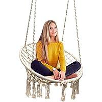 Sorbus Hammock Chair Macrame Swing, 265 Pound Capacity,...