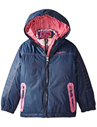 Rugged Bear Girls' Systems Coat with Plaid Jacket