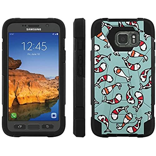 AT&T [Galaxy S7 Active] ShockProof Case [ArmorXtreme] [Black/Black] Hybrid Defender [Kickstand] - [Koi Pattern] for Samsung Galaxy [S7 Active] Sales