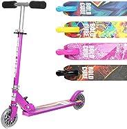 2 Wheel Kick Scooter for Kids - Foldable - PU Wheels - Adjustable Handlebar - Soft Handlebar Grips - for Boys