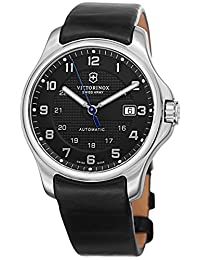 Swiss Army V241670 Men's Black Dial and Black Strap Watch