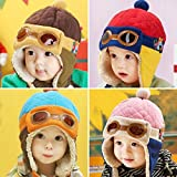 KXF Kids Winter Beanie Hats Fleece Lined Pilot