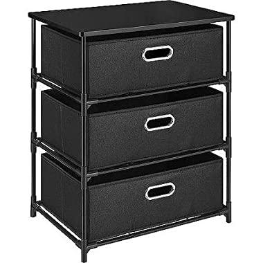 Durable Altra 3 Drawer Canvas and Metal Storage, Black