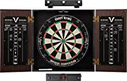 Viper Stadium Cabinet & Shot King Sisal/Bristle Dartboard Ready-to-Play Bundle with Two Sets of Steel-Tip