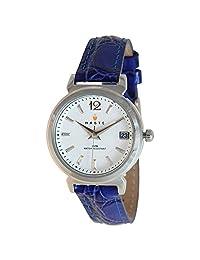 Haste 111415633 Reloj Análogo para Mujer, Redondo, plata/azul