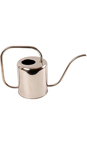 Esschert Design Stainless Steel Watering Can Modern Style, Medium