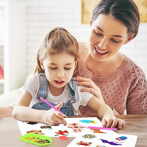 Koogel 30pcs Diamond Painting Stickers,5D DIY Kids Diamond Painting Kids Diamond Art Diamond Painting Kits for Kids for Paint by Numbers Diamonds Children Adult Beginners