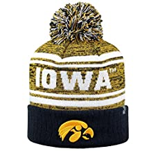 "Top of the World NCAA ""Driven"" Striped Cuffed Knit Pom Beanie Hat"