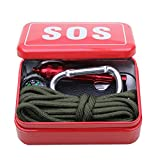 Outdoor Equipment With Paracord Emergency Survival Box Sos Camping Hiking Tools Hiking Saw/Fire ToolsCamping...
