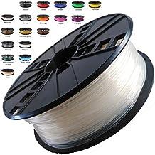 Melca 1.75 3D Printer Filament PLA 1kg +/- 0.03mm, Clear