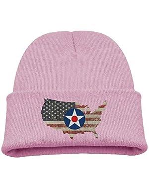UNSC Army Air Force Insignia US Flag Boy Girl Beanie Hat Knitted Beanie Knit Beanie
