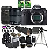 Canon EOS 6D Camera Bundle with Canon EF 24-105mm f/3.5-5.6 IS STM Lens + Tamron AF 70-300mm f/4-5.6 Macro Autofocus Lens + 500mm f/8 Telephoto Lens