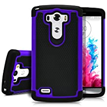 LG G3 Case, MagicMobile [Dual Armor Series] Rugged Durable [Impact Shockproof Resistant] Double Layer Cover [Hard Shell] & [Flexible Silicone] Case for LG G3 Case - Black /Purple