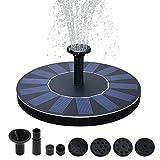 Kyerivs Bird Bath Solar Fountain Pump 1.5W Circle Garden Upgraded Floating Fountain Pump for Birdbaths and Ponds