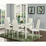 IDS Online Deluxe Glass Dining Table Set 7 Pieces