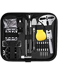 Cadrim Watch Repair Kit - Professional 153pcs Repair Tools Spring Bar Set Watch Band Link Remover Set Replace Watch Battery Tools with Carrying Case