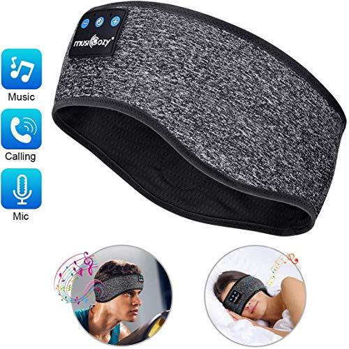 LC-dolida ヘッドバンド 音楽を聴ける Bluetooth ヘアバンド イヤホン内臓 ジョギング ジム スポーツ 汗止め メンズ レディース 伸縮性