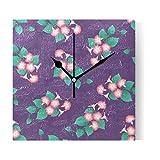 XDCGG Desk Clock Exquisite Flowers Ipomoea Nil
