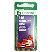Littelfuse (MIC2010.VP) MICRO2 Red 32V 10 Amp Blade Fuse, (Pack of 5)
