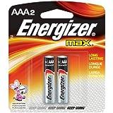 Energizer E92BP-2 AAA Alkaline Batteries 2 Batteries per Package by Energizer
