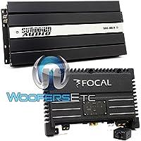 pkg Focal Solid1 Mono 600 Watt RMS Power Amplifier + Sundown Audio SAX-100.4 V2 4-Channel 600W RMS Amplifier