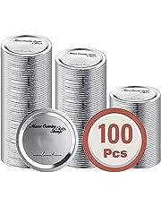 Canning Lids, Regular Mouth Jar Lids for Ball Kerr Jars - 100 Count - 70MM Split-Type Metal Canning Jar Lids, 100% Fit & Airtight Leak Proof & Secure Canning Lids for Canning Jars, Food Grade Material