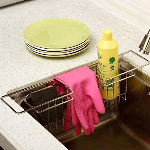 Stainless Steel Sink Leakage Frame Creative Kitchen Shelf Multi - Function Shelf by SUN