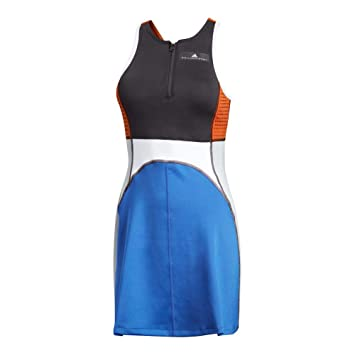 ac445c06424 adidas by Stella McCartney Barricade Dress Women's Tennis S Black-Bold Blue
