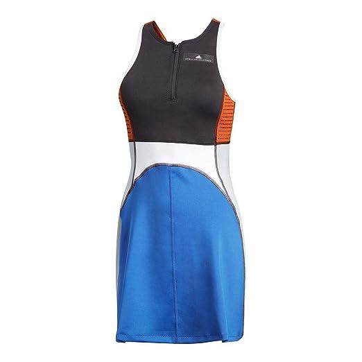 67814d5cfc9 adidas by Stella McCartney Women's Tennis Dress, Black/Bold Blue, X-Small