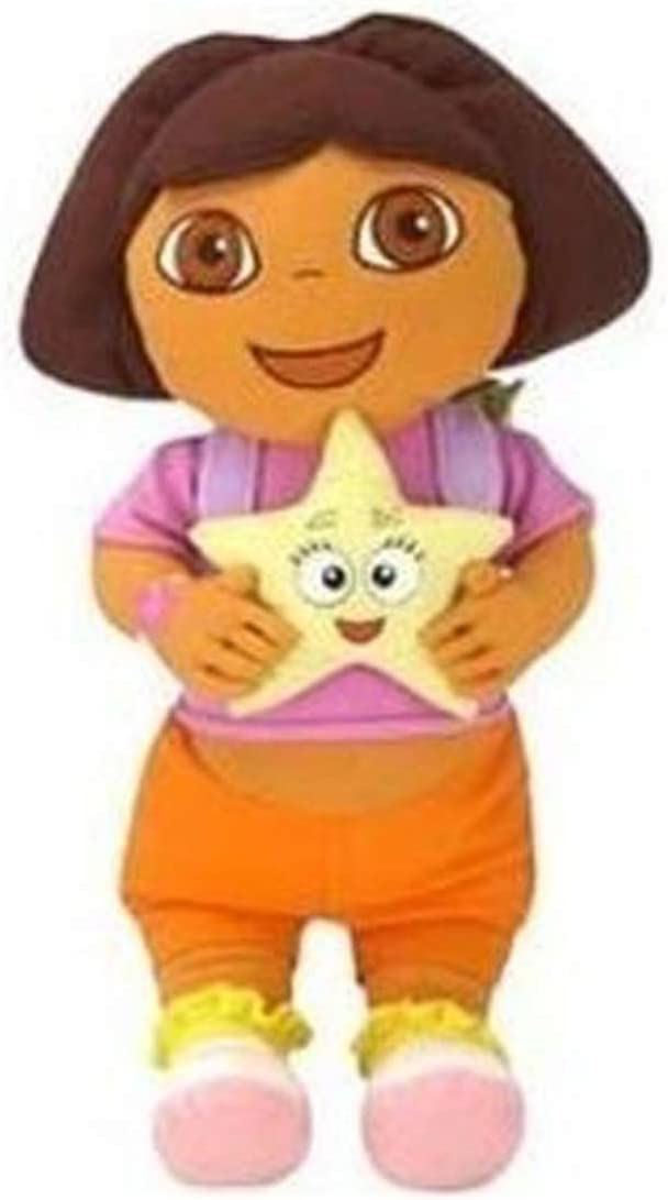 Nick Jr Dora The Explorer Cuddle Pillow - Dora Star Catcher Plush