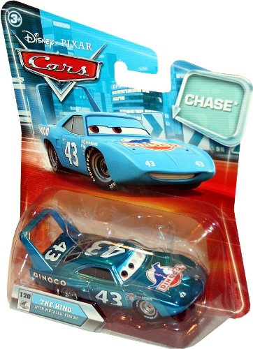 Disney / Pixar CARS Movie 155 Die Cast Car with Lenticular Eyes Series 2 King Metallic Finish Chase Piece!