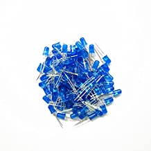 MagiDeal 100Pieces 5mm/0.20inch Bright Components Blue LED Lamp Lens Fairy Diode Lamp Diffused Light