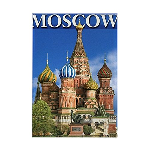 CafePress Moscow Kremlin Saint Basil's Cathedral Red Square Rectangle Magnet, 2